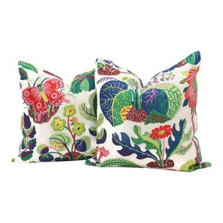 "20"" x 20"" Decorative Pillow Cover Exotic Butterfly in Spring For Sale"