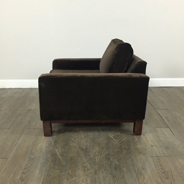 Room & Board Brown Suede Club Chair - Image 8 of 11