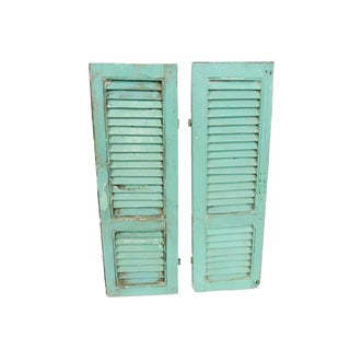 Vintage Rustic French Shutters - A Pair