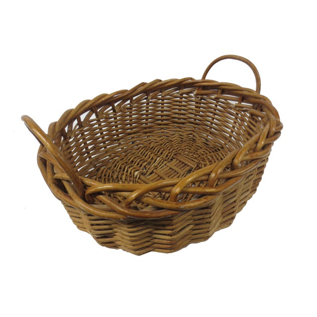 Giant Oversize Braided Willow Basket - Image 5 of 9
