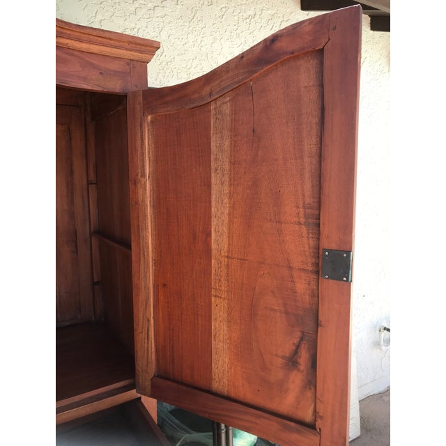 Wood Antique Rustic Spanish Style Armoire For Sale - Image 7 of 13