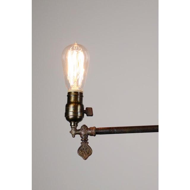 Original Industrial Gas Light Fixture Circa 1885 by Archer & Pancoast - Image 4 of 7