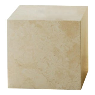 """16"""" Plinth Table Cubic in Travertine Marble For Sale"""