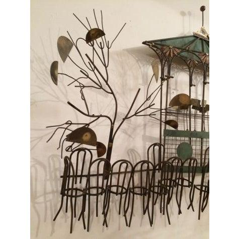 C Jeré Signed Gazebo Café Scene Hanging Sculpture - Image 7 of 9