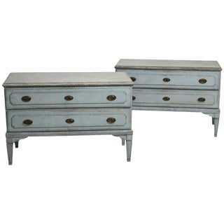 Gustavian Painted Chests Chest Drawers, 18th Century For Sale