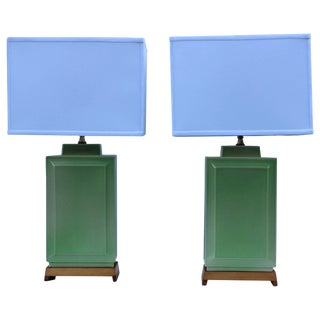 1940s Ceramic Table Lamps by Lightolier For Sale