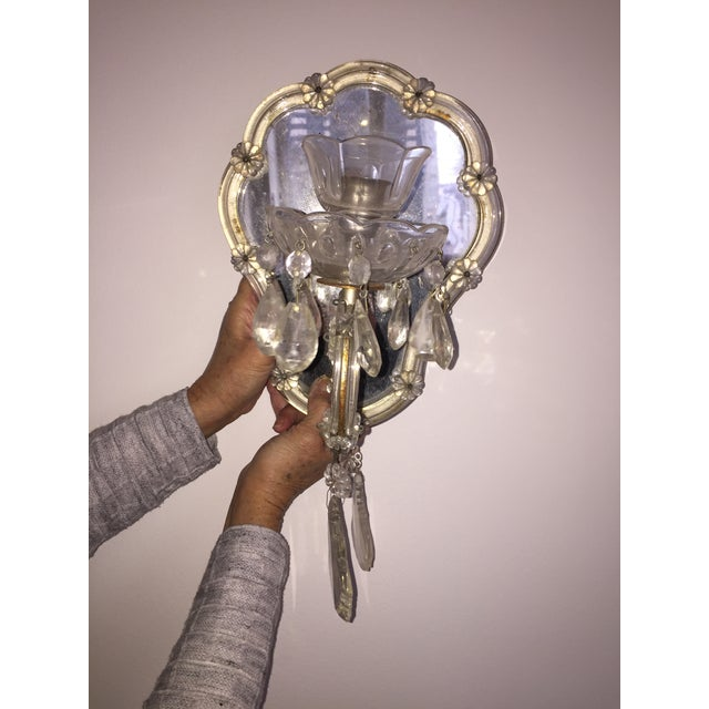Vintage Candlestick Wall Mirrors - A Pair - Image 3 of 3