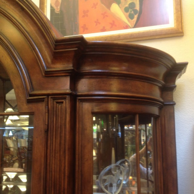 Arched Sideboard With Lighted Hutch - Image 4 of 9