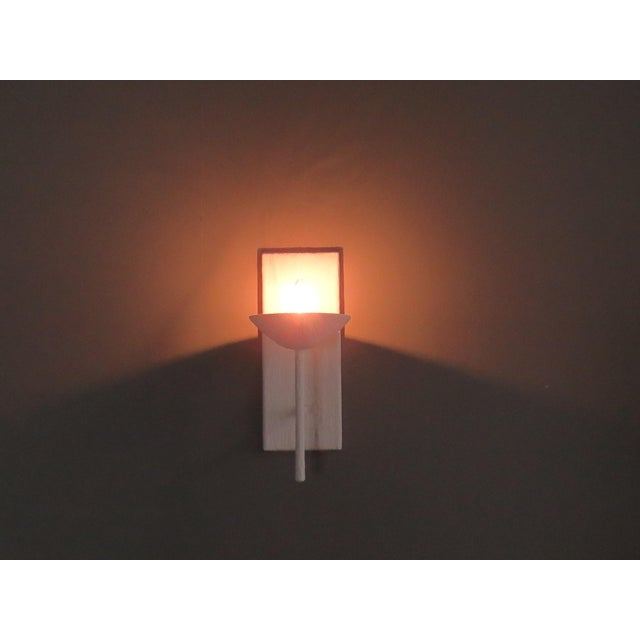 Contemporary Single Arm Plaster Sconce For Sale - Image 3 of 4