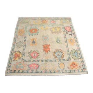 Modern 'Arlette' Turkish Oushak Rug- 5′9″ × 6′1″ For Sale