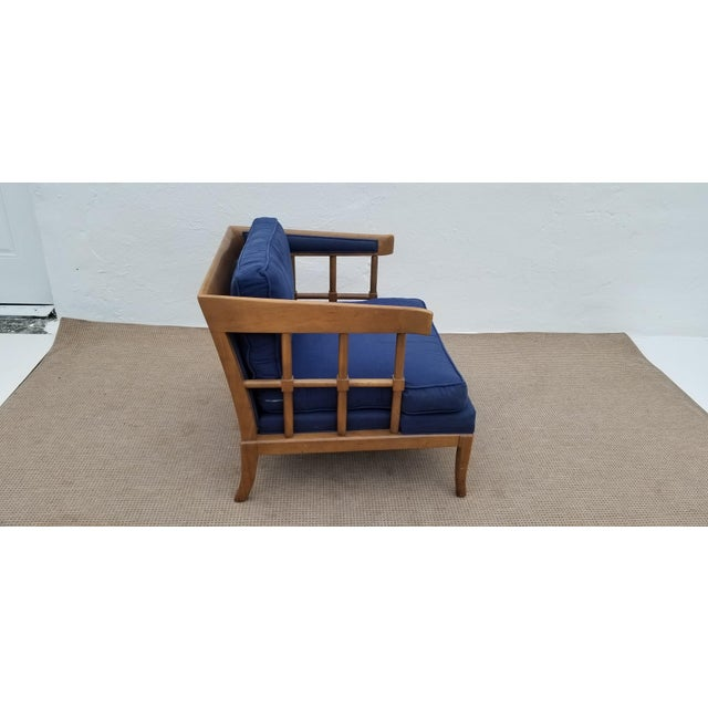 Mid-Century Modern 1970s Mid-Century Modern Barrel Back Club Lounge Chair For Sale - Image 3 of 12
