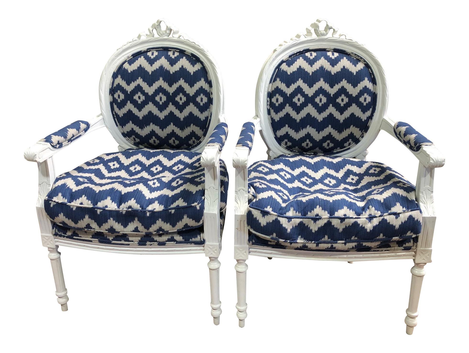 Captivating Ralph Lauren Fabric French Design Side Chairs