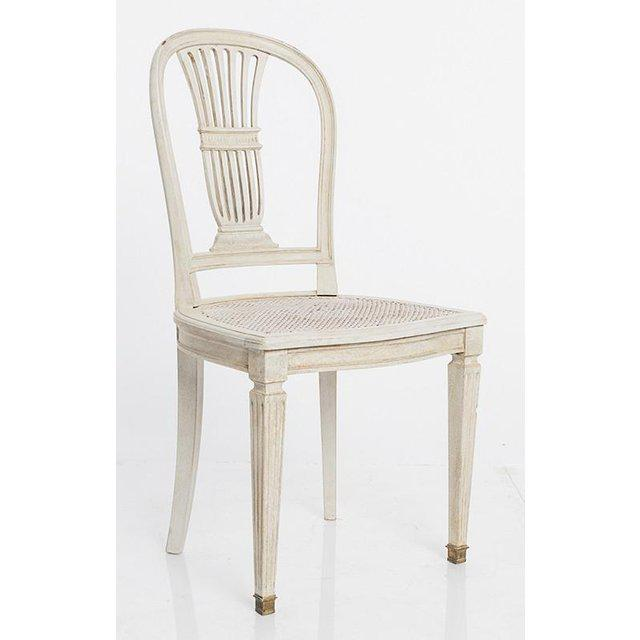 Gustavian Wheat Sheaf Swedish Dining Chairs - Set of 6 For Sale - Image 4 of 8