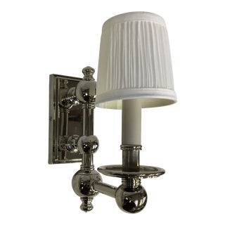 Visual Comfort Pivoting Polished Wall Sconce For Sale