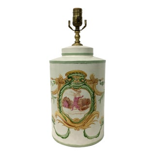 English Export Tea Canister Lamp For Sale