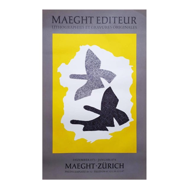 "Georges Braque ""Zurich"" Lithograph Poster For Sale"