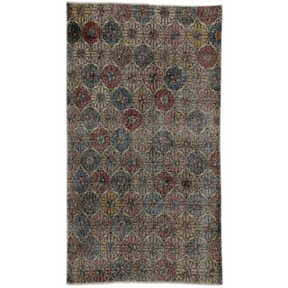 Zeki Muren Distressed Vintage Turkish Sivas Rug - 2′7″ × 4′8″ For Sale
