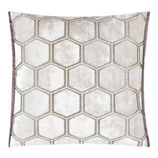 Manipur Oyster Medium Velvet Cushion For Sale