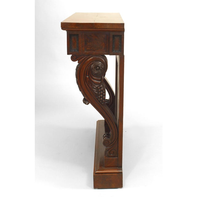 Hollywood Regency 19th Century English Regency Mahogany Console Table For Sale - Image 3 of 6