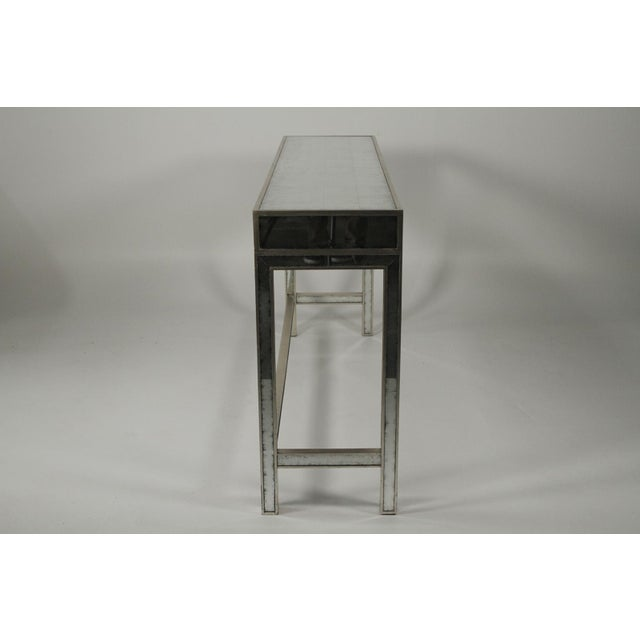 Silver 20th Century Art Deco John Richard Mirrored Modern Console Table For Sale - Image 8 of 10