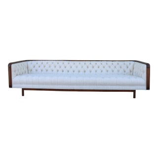 Walnut Accent Tufted Sofa