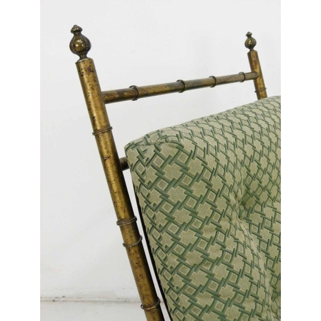 Italian-Style Faux Bamboo Lounge Chair & Ottoman - Image 7 of 9