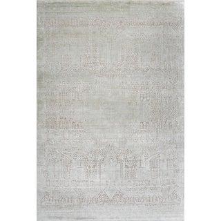 Schumacher Patterson Flynn Martin Kobe Hand Knotted Wool Silk Modern Rug For Sale