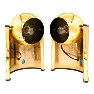Mid-Century Modern Brass Swivel Desk Lamps - a Pair For Sale
