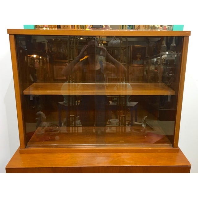 Mid 20th Century Mid Century Modern Craddock China Cabinet Hutch For Sale - Image 5 of 12