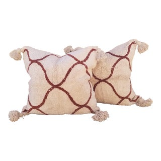 Super Soft Moroccan Wedding Quilt Pillow Pair For Sale