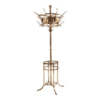 English Aesthetic Movement Brass Hat Stand For Sale