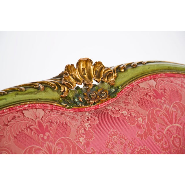 Italian 20th Century Venetian Painted Settee For Sale - Image 3 of 8
