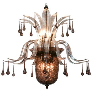 High Style Murano Glass Chandelier For Sale
