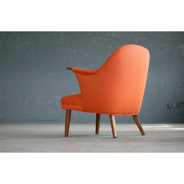 1950s Small Danish Mama Bear Style Lounge Chair in the Manner of Kurt Olsen For Sale In New York - Image 6 of 10