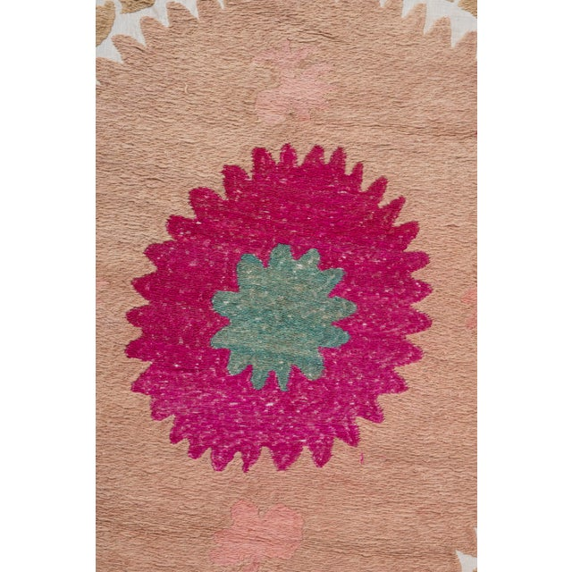 """Tribal Embroidery Wall Decor, Suzani Bedspread 8'2"""" X 11'6"""" For Sale - Image 4 of 13"""