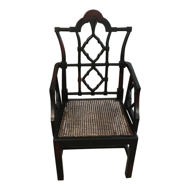 Chippendale-Style Oriental Wood Chair - Image 1 of 8