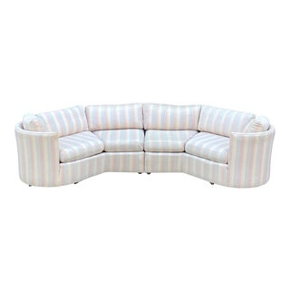 Dansen Contemporary Angled Sectional Sofa For Sale