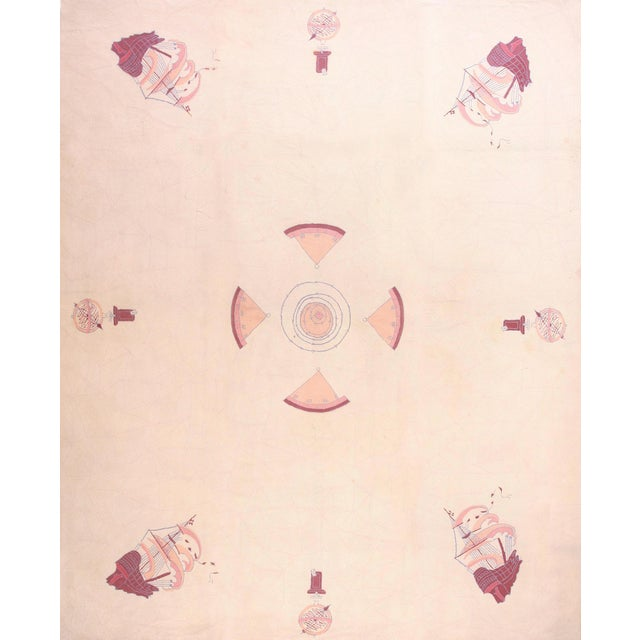American Nautical Hooked Rug- 11′ × 14′ For Sale
