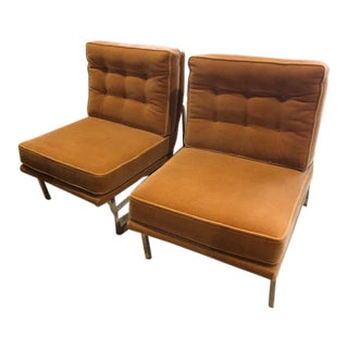 Florence Knoll Parallel Bar System Lounge Chairs - A Pair