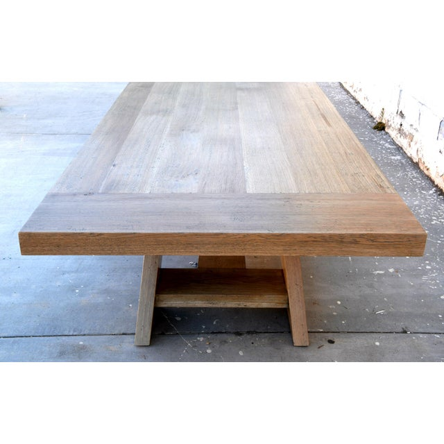 Rustic Banquet Table Made From Rift Sawn White Oak For Sale - Image 9 of 13