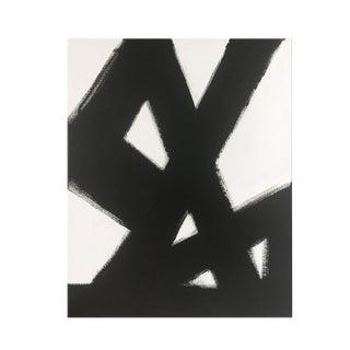 Abstract Black Slash No. 2 - 36 X 48 For Sale