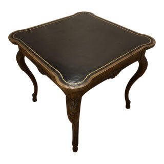 Baker Leather Top Game Table