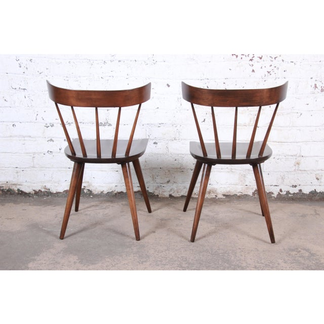 1950s Paul McCobb Newly Refinished Planner Group Dining Chairs, Pair For Sale - Image 5 of 13