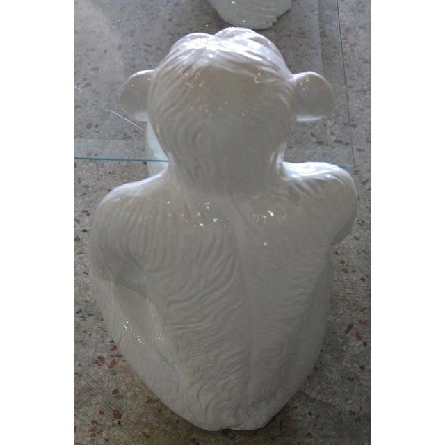 Vintage Italian Chinoiserie Ceramic Monkey Coffee Table - Image 5 of 11