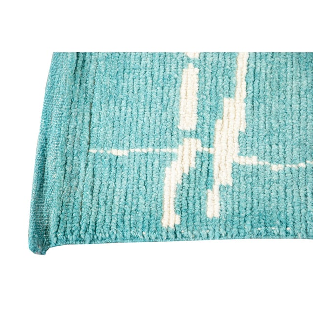21st Century Modern Moroccan Style Wool Runner For Sale - Image 4 of 9