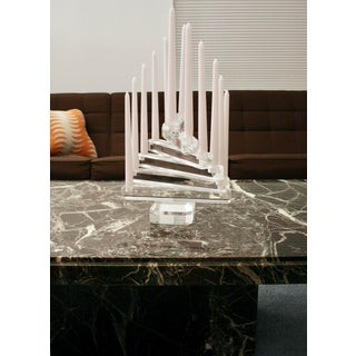 Karl Springer Attributed Lucite Sculpture / Candle Holder Preview