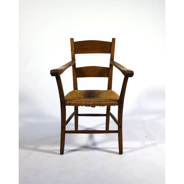 Rustic Armchair With Rush Seat - Image 6 of 6