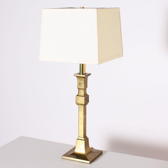 Pair of Chapman mid-century modern brass table lamps, c. 1970