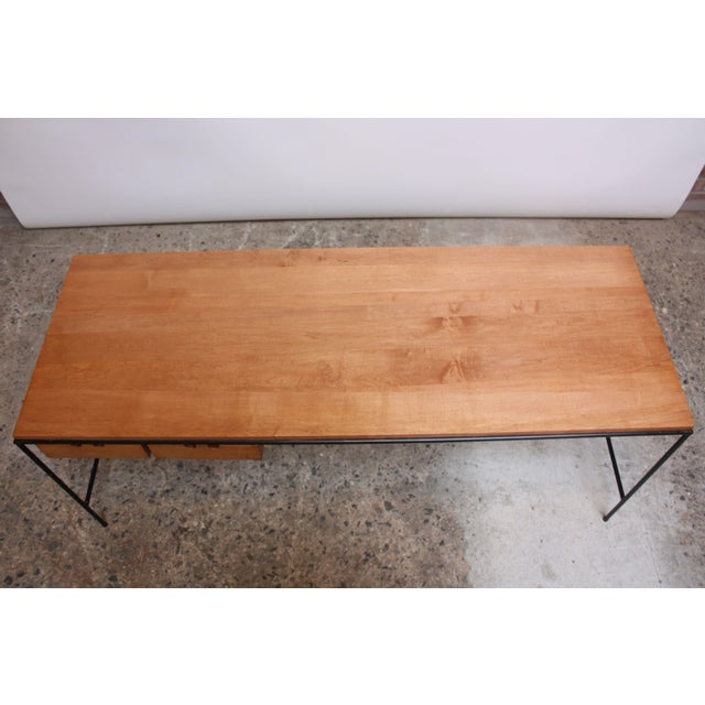 1950s Paul McCobb for Winchendon Maple and Iron Console / Media Table For Sale - Image 5 of 13