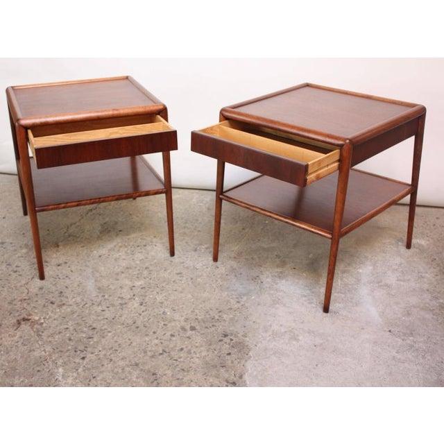 Pair of T. H. Robsjohn-Gibbings Single Drawer End Tables - Image 4 of 10